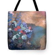 Ophelia Among The Flowers Tote Bag by Odilon Redon