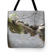 Opposite Direction Tote Bag