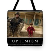 Optimism Inspirational Quote Tote Bag by Stocktrek Images