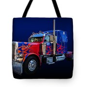 Optimus Prime Blue Tote Bag