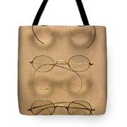 Optometrist - Simple Gold Frames Tote Bag by Mike Savad