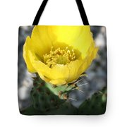 Opuntia Ficus-indica Flower Of The Prickly Pear Tote Bag