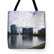 Oracle Buildings In Redwood City Ca Tote Bag