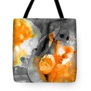 Orange Abstract Art - Iced Tangerine - By Sharon Cummings Tote Bag