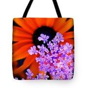Orange And Lavender Tote Bag