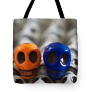 Orange And Navy Blue Tote Bag