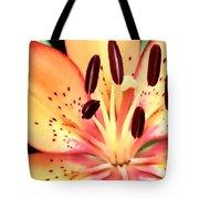 Orange And Pink Flower Tote Bag