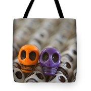 Orange And Purple Tote Bag