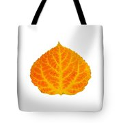 Orange And Yellow Aspen Leaf 3 Tote Bag