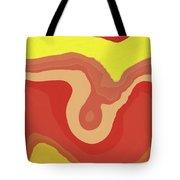Orange And Yellow Layers Tote Bag