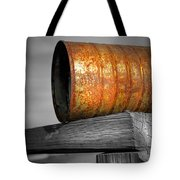 Orange Appeal - Rusty Old Can Tote Bag by Gary Heller
