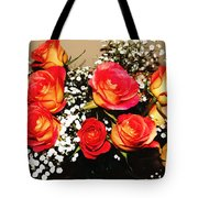 Orange Apricot Roses With Oil Painting Effect Tote Bag