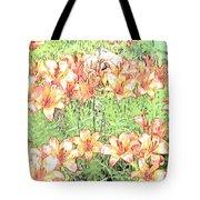 Orange Asiatic Lilies Tote Bag