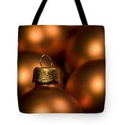 Orange Baubles Tote Bag by Anne Gilbert