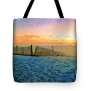 Orange Beach Sunset - The Waning Of The Day Tote Bag