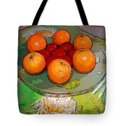 Orange Beauty Tote Bag