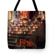 Orange Bicycle By Brownstone Tote Bag