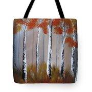 Orange Birch One Piece Tote Bag