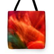 Orange Blossom Opening Tote Bag