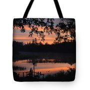 Orange Blue And Black Tote Bag