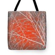 Orange Branches Tote Bag