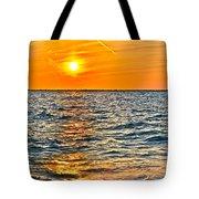 Orange Burn Tote Bag