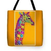 Orange Carosel Giraffe Tote Bag