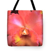 Orange Cattleya Orchid Tote Bag
