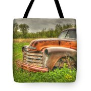Orange Chevy Tote Bag