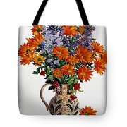 Orange Chrysanthemums Tote Bag