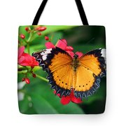 Orange Common Lacewing Butterfly Tote Bag