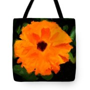 Orange Country Flowers - Impressionist Series Tote Bag