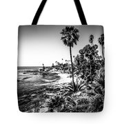 Orange County California In Black And White Tote Bag