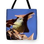 Orange-crowned Warbler - Feather Lite Tote Bag
