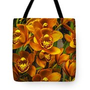 Orange Cymbidium Tote Bag
