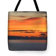 Orange Dawn Rising Tote Bag