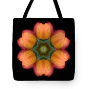 Orange Daylily Flower Mandala Tote Bag by David J Bookbinder