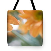 Orange Design. Paintrly Chrysanthemum  Tote Bag
