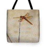 Orange Dragonfly Tote Bag
