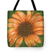Orange Echinacea Tote Bag