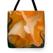 Orange Fantasy Begonia Flower Tote Bag