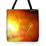 Orange Fireworks Tote Bag