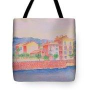 Orange Fisherman's Island Tote Bag