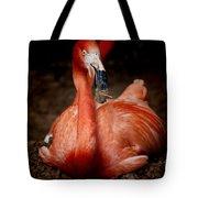 Orange Flamingo Nesting Tote Bag