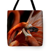 Orange Flamingos Conflict Resolution Tote Bag