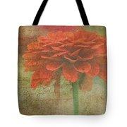 Orange Floral Fantasy Tote Bag