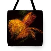 Orange Floral In Abstract Tote Bag