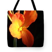Orange Flower Canna Tote Bag