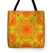 Orange Flower Mandela Tote Bag