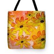 Orange Flowers Galore Digital Art Tote Bag
